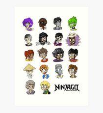 Ninjago Season 4  Art Print