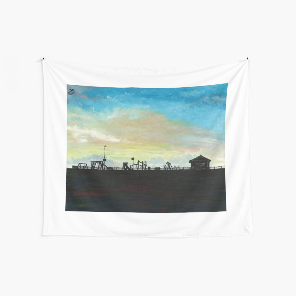 West Hill Playground at Dusk Wall Tapestry