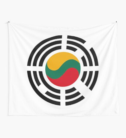 Korean Lithuanian Multinational Patriot Flag Series Wall Tapestry
