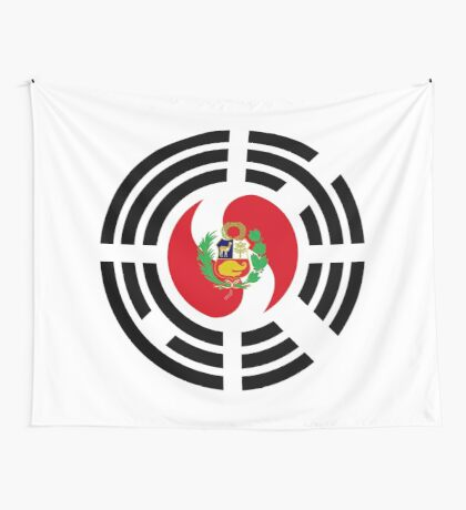 Korean Peruvian Multinational Patriot Flag Series Wall Tapestry