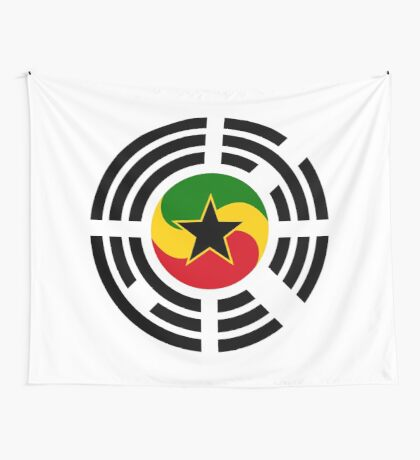 Korean Ghanaian Multinational Patriot Flag Series Wall Tapestry