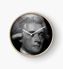 American Founding Father, president Jefferson Portrait T-shirt Clock