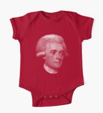 American Founding Father, president Jefferson Portrait T-shirt Short Sleeve Baby One-Piece