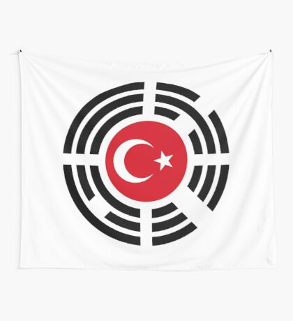 Korean Turkish Multinational Patriot Flag Series Wall Tapestry
