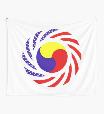 Korean American Multinational Patriot Flag Series 3.0 Wall Tapestry
