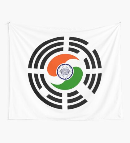 Korean Indian Multinational Patriot Flag Series Wall Tapestry
