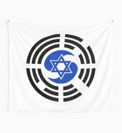 Korean Israeli Multinational Patriot Flag Series Wall Tapestry