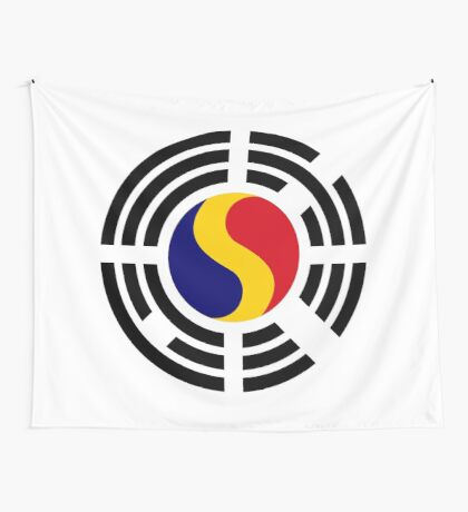 Korean Romanian Multinational Patriot Flag Series Wall Tapestry