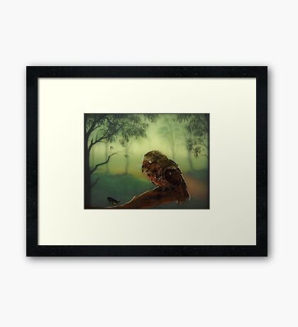 The Curious Visitor Framed Print