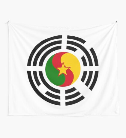 Korean Cameroonian Multinational Patriot Flag Series Wall Tapestry