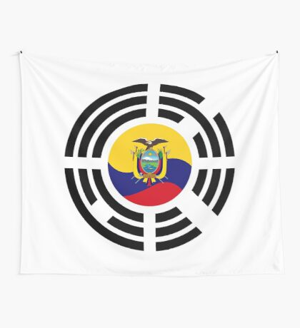 Korean Ecuadorian Multinational Patriot Flag Series Wall Tapestry