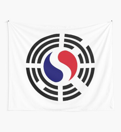Korean French Multinational Patriot Flag Series Wall Tapestry