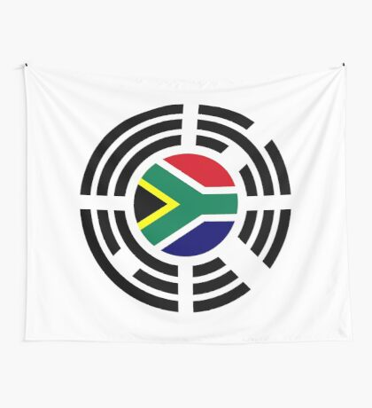 Korean South African Multinational Patriot Flag Series Wall Tapestry