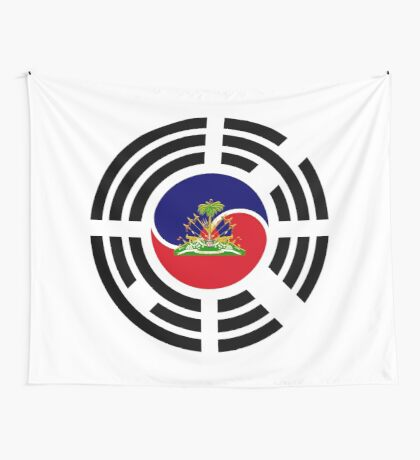 Korean Haitian Multinational Patriot Flag Series Wall Tapestry