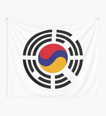 Korean Armenian Multinational Patriot Flag Series Wall Tapestry