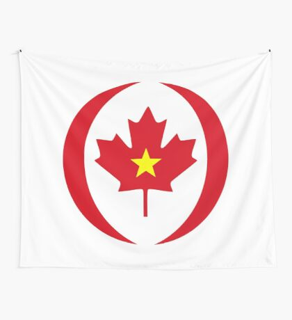 Vietnamese Canadian Multinational Patriot Flag Series Wall Tapestry