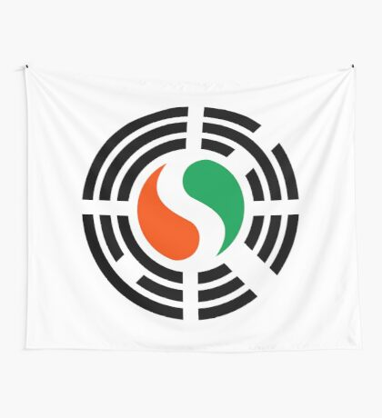 Korean Ivory Coast Multinational Patriot Flag Series Wall Tapestry