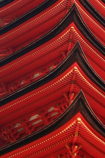 Red Pagoda by Jenny Hall