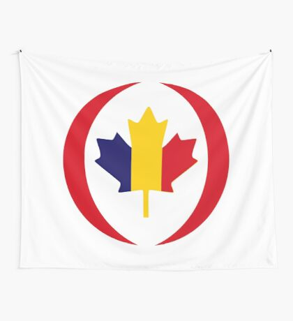 Romanian Canadian Multinational Patriot Flag Series Wall Tapestry