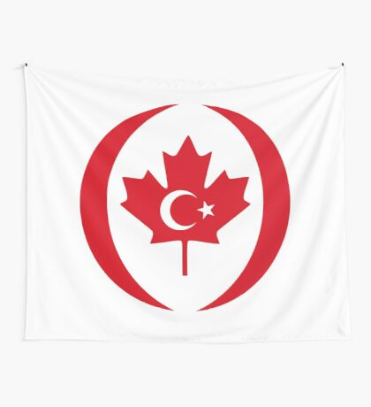 Turkish Canadian Multinational Patriot Flag Series Wall Tapestry