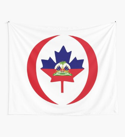 Haitian Canadian Multinational Patriot Flag Series Wall Tapestry