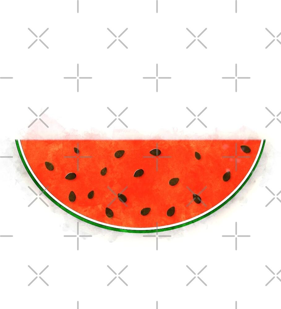 Watermelon Watercolor by Colleen Cornelius