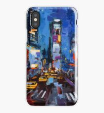 Saturday night in Times Square iPhone Case/Skin
