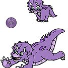 Tom the Triceratops Stickers by zuperbuuworks