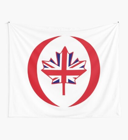 British Canadian Multinational Patriot Flag Series Wall Tapestry
