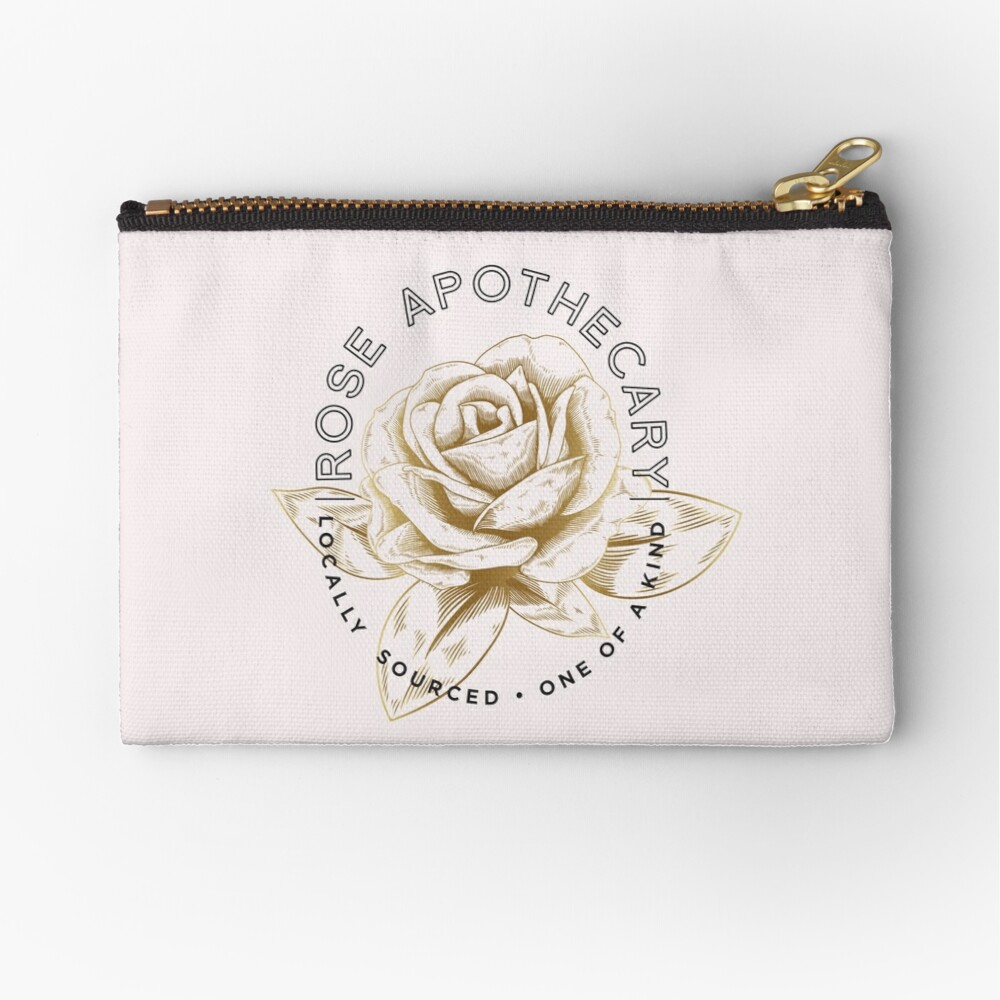 Rose Apothecary Zipper Pouch