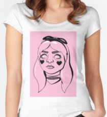 Alice im Wunderland (weg mit deinem Kopf) Tailliertes Rundhals-Shirt