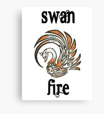 Swan Fire Merchandise Canvas Print