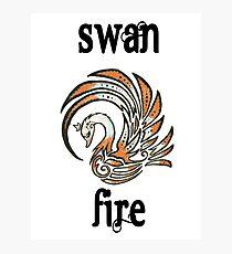Swan Fire Merchandise Photographic Print