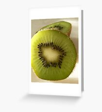 Hairy green and delicous Greeting Card