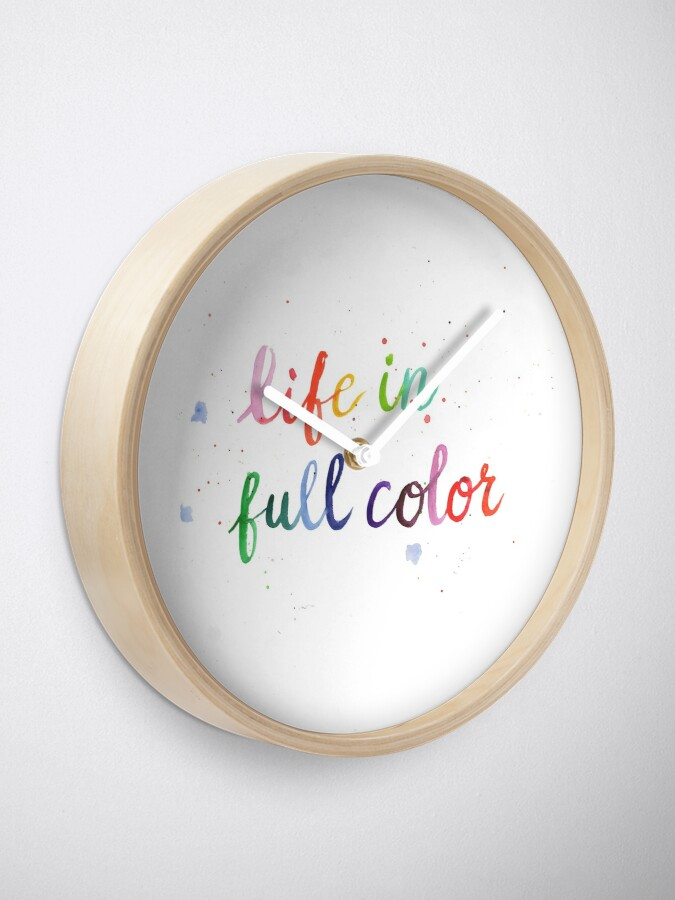 Alternate view of Life in Full Color Clock