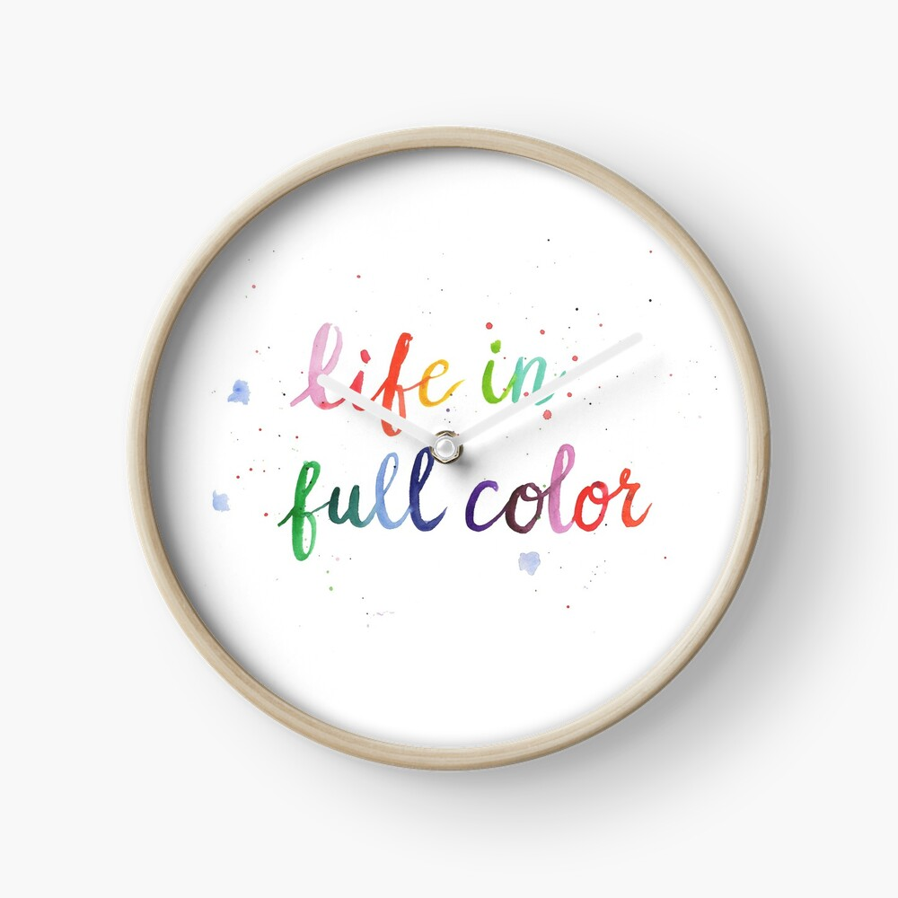 Life in Full Color Clock
