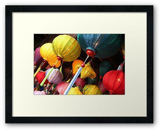 Vietnamese lanterns by Jenny Hall