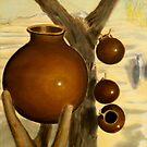 Jarros en el desierto by Heberto   G. Cavazoz