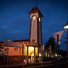 Sandgate Town Hall at dusk by John Quixley