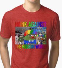 HONK AGAINST THE MODERN WORLD Tri-blend T-Shirt