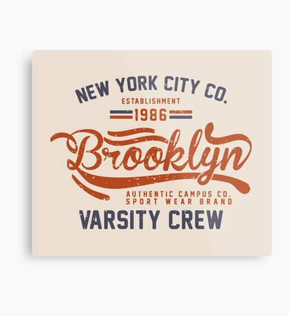 Vintage New York Brooklyn 1986 Metal Print