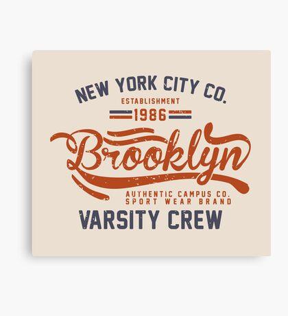 Vintage New York Brooklyn 1986 Canvas Print