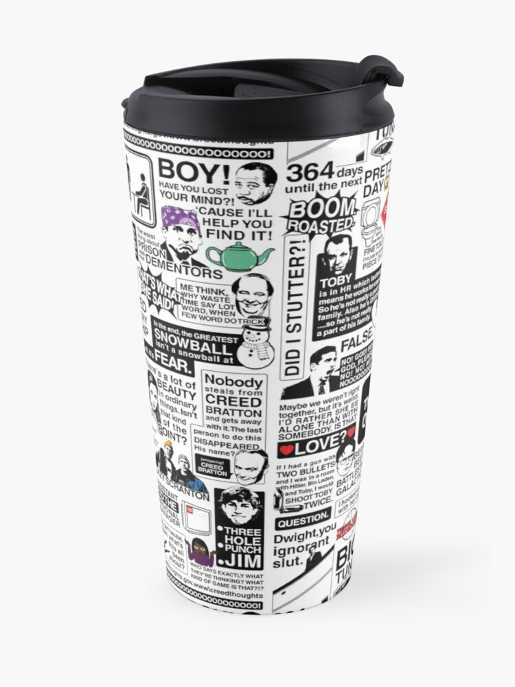 Alternate view of Wise Words From The Office - The Office Quotes (Variant) Travel Mug