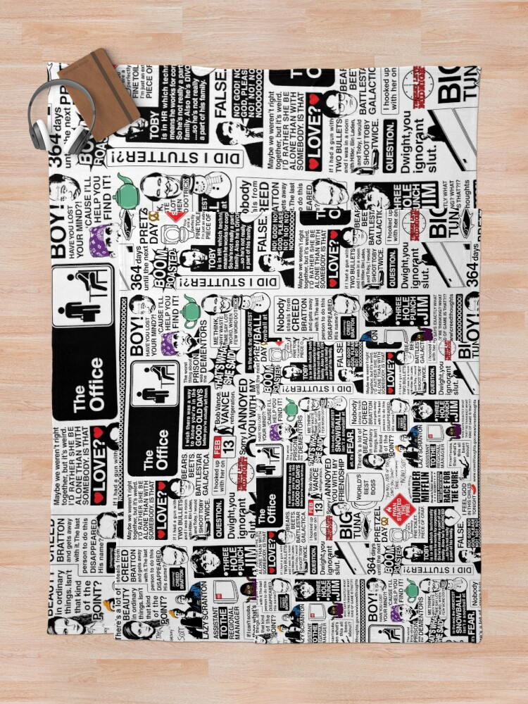 Alternate view of Wise Words From The Office - The Office Quotes (Variant) Throw Blanket