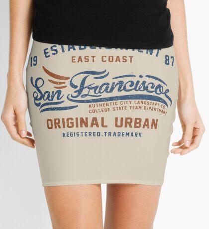 San Francisco Vintage Hand Lettering College Mini Skirt