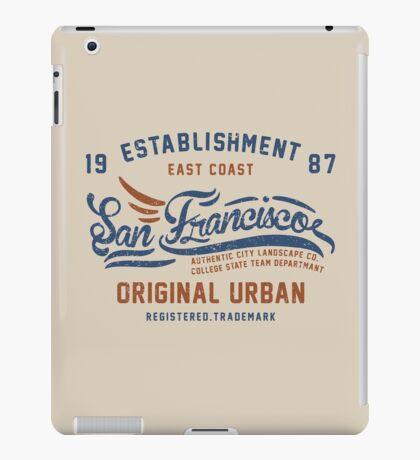 San Francisco Vintage Hand Lettering College iPad Case/Skin
