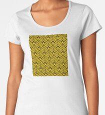 3-D Gold Art Deco Art Décoratif Pattern Premium Scoop T-Shirt