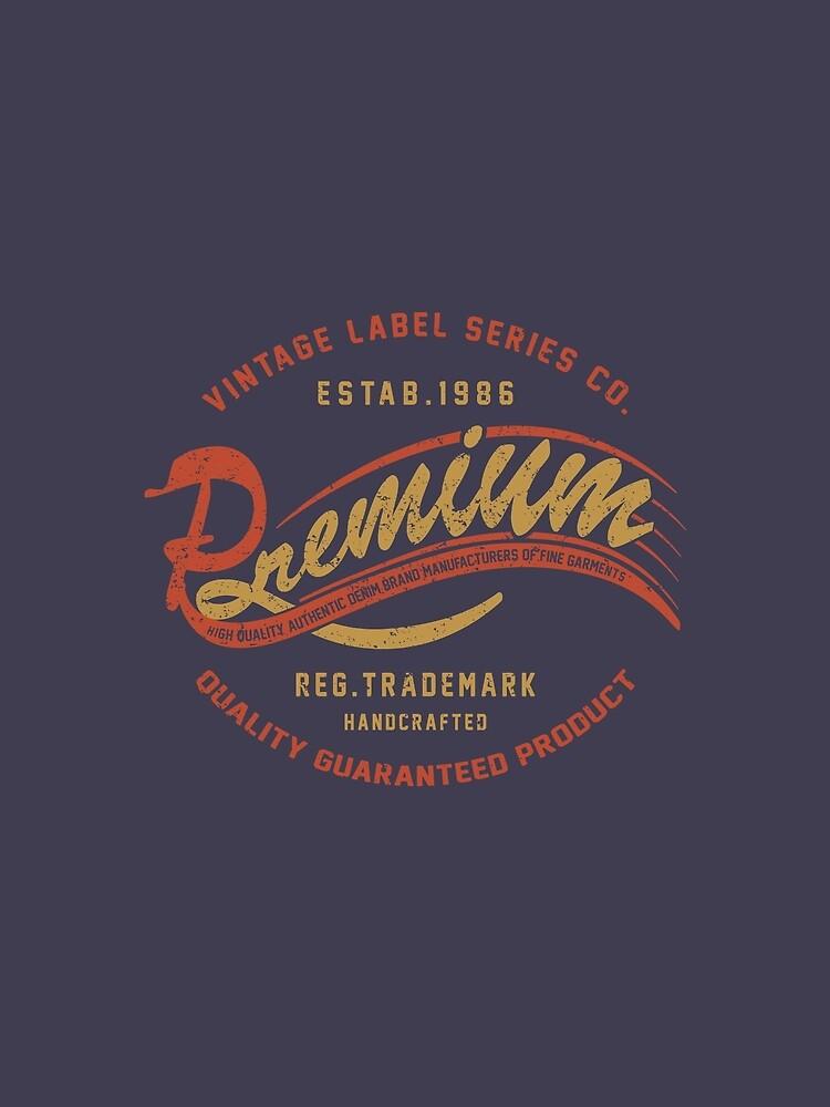 Premium Vintage Label Hand Lettering by Chocodole