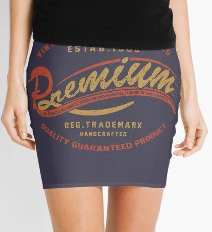 Premium Vintage Label Hand Lettering Mini Skirt