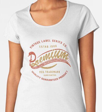 Premium Vintage Label Hand Lettering Premium Scoop T-Shirt